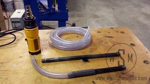Using Heat Gun to Make Vinyl Tubing Behave