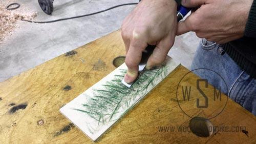 Polishing Bevel of Chisel