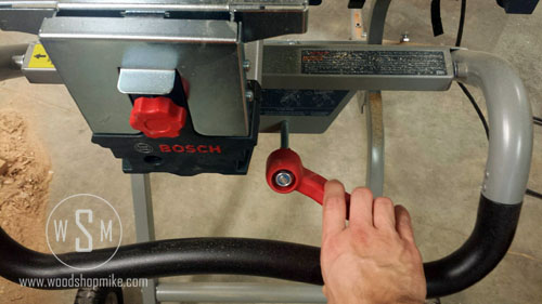 BOSCH Gravity Rise Miter Saw Stand, Collapse Lever