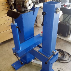 Ready For Work! Big Blue Home Made Lathe