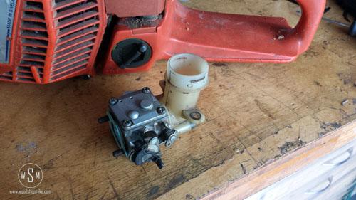 Intake Port, Carb & Air Filter Holder, New Gasket