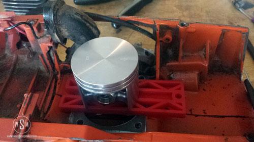 New Piston, Centered in Crank Case