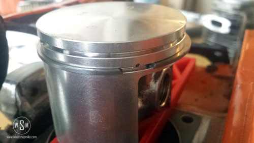 New Piston, Ring Placement, Bottom