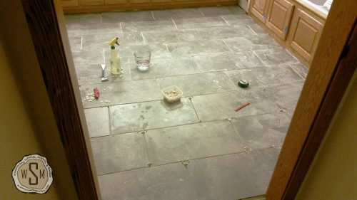 Almost Finished!, Master Bath Remodel, Flooring