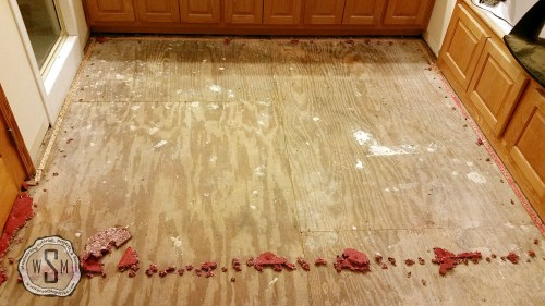 Carpet Pad Removed, Master Bath Remodel, Flooring