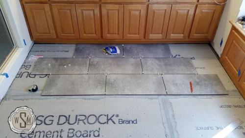 Testing Layout Pattern, Master Bath Remodel, Flooring