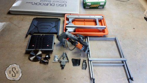 Tile Saw Assembly, Master Bath Remodel, Flooring