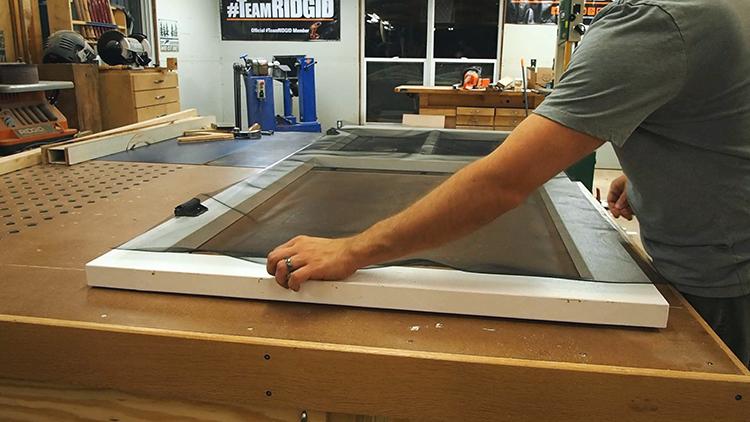 How to Make a DIY Screen Door-Screening