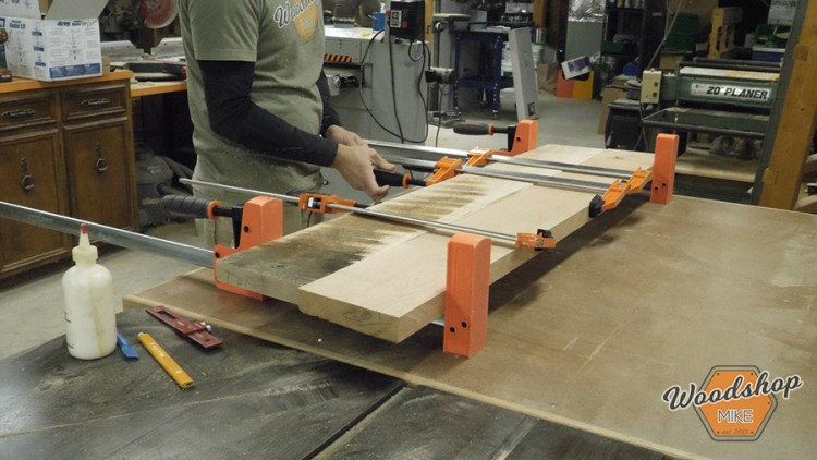 Bench Glue Up - DIY Farmhouse Entryway Bench