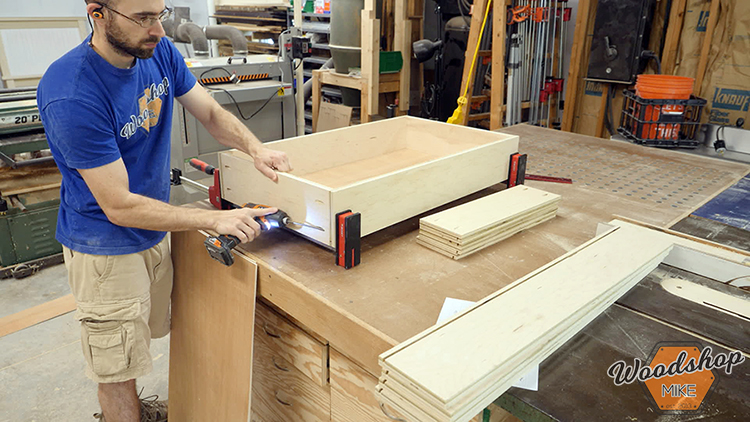 Drawer Box Assembly DIY Farmhouse Platform Bed