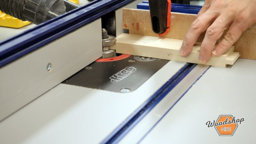 Cutting Tongue on Router Table