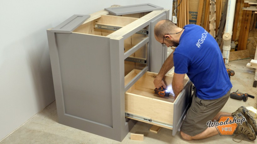 How to Attach False Drawer Front