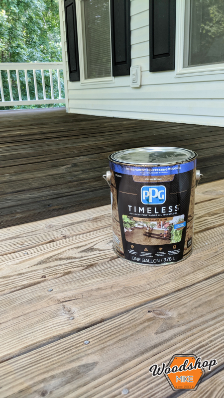 PPG Timeless Stain, Front Porch Renovation