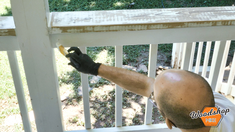 Painting Trim and Railing, Front Porch Renovation