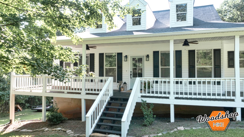 Renovated, Southern Front Porch Restoration