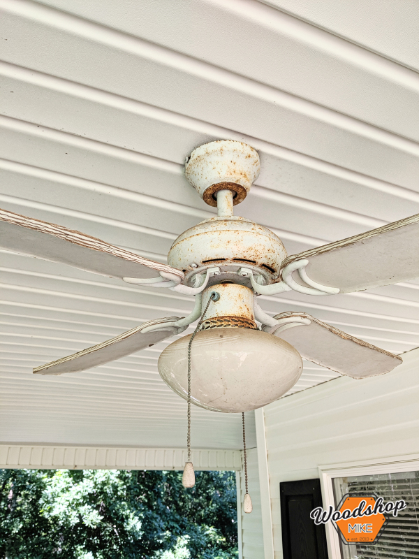 Rusted Fan, Front Porch Renovation