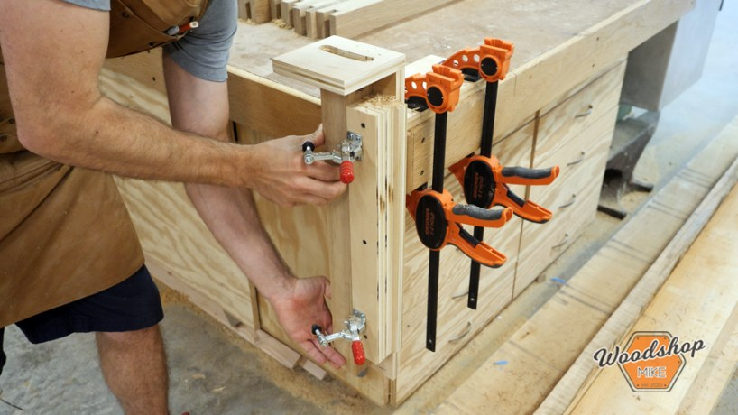 how to make outdoor side table, curved mortise router jig