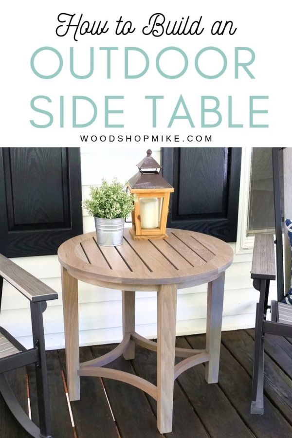 make this awesome outdoor side table