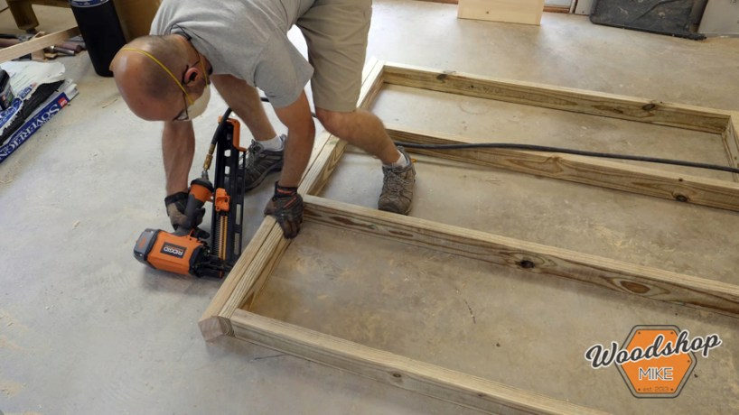 installing trim boards _ How to make a DIY chicken coop
