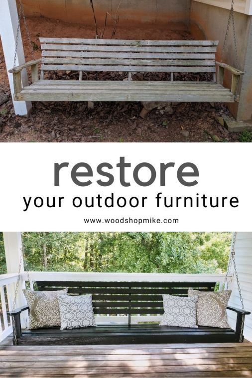 porch swing restoration, how to restore outdoor furniture