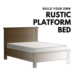Rustic Platform Bed Woodworking Plans