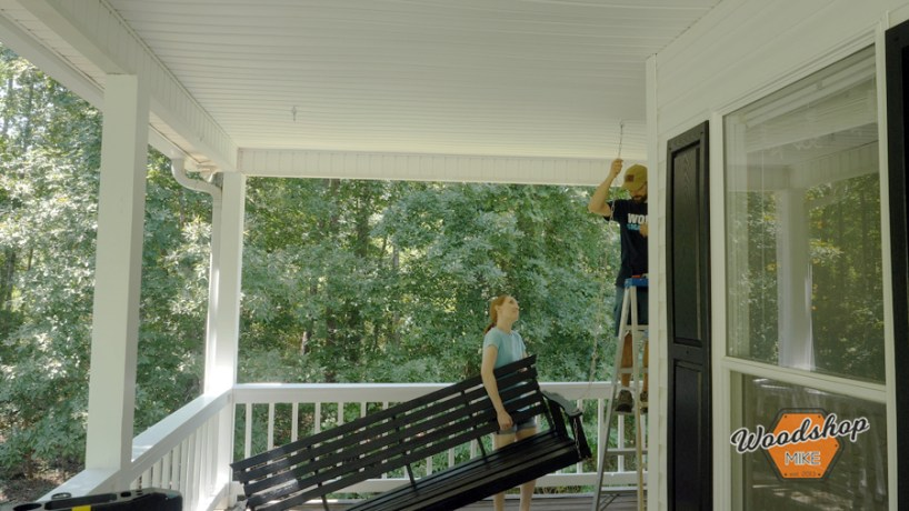 how to repair outdoor furniture, hang porch swing