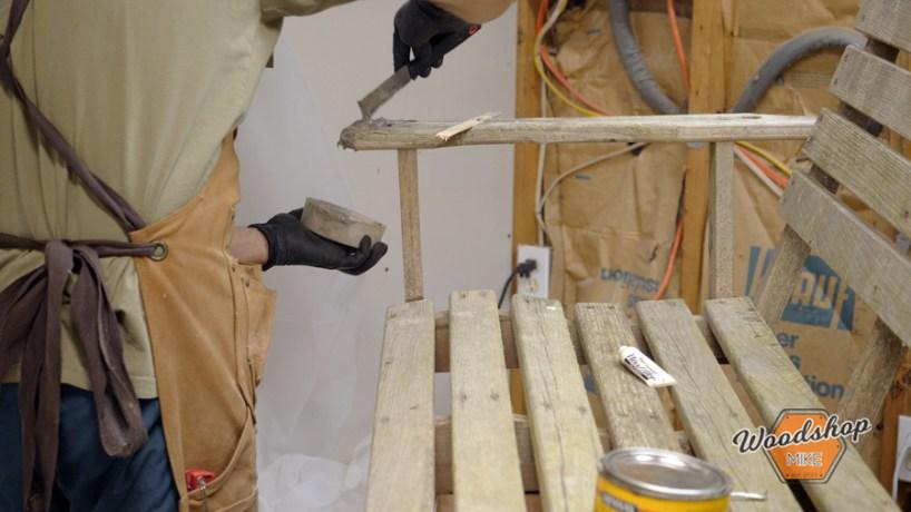 how to repair outdoor furniture, minwax wood filler