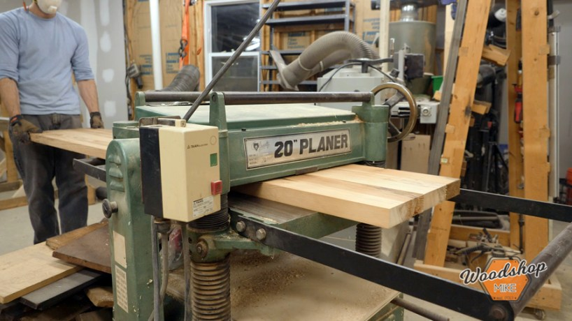 how to use a planer, make this easy to build rustic bed