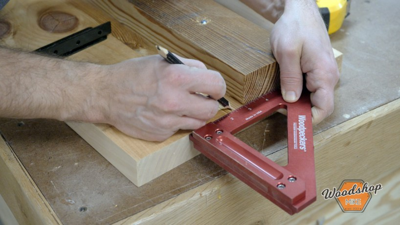 woodpeckers square, make this easy to build rustic bed