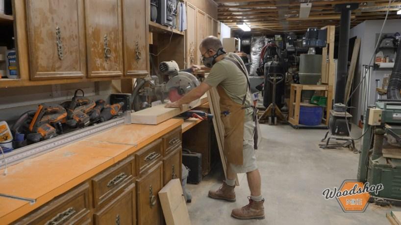 Cutting Lumber on Miter Saw