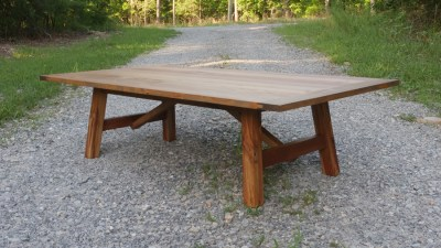 How to Make a Rustic Coffee Table with Breadboard Ends