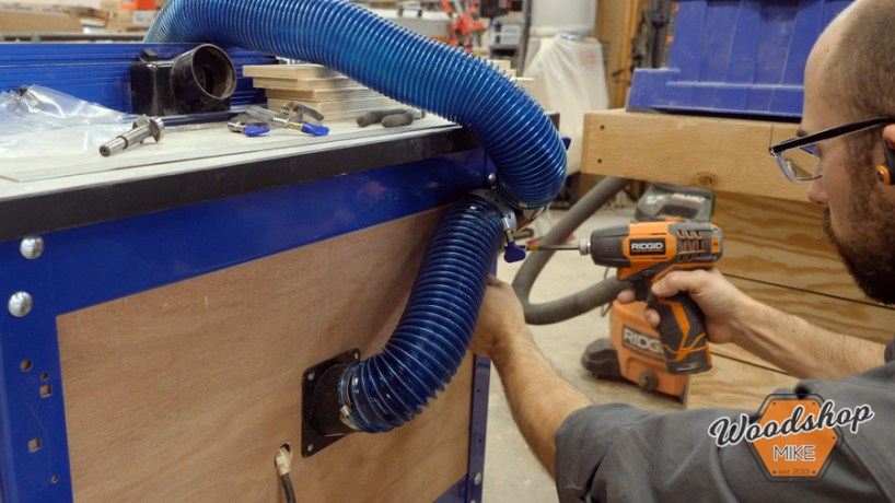 router table dust collection, Rockler Dust Right expandable shop vacuum hose
