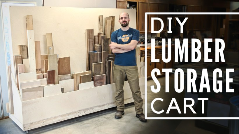 How to Build a MOBILE WOOD STORAGE Cart | Woodworking Plans