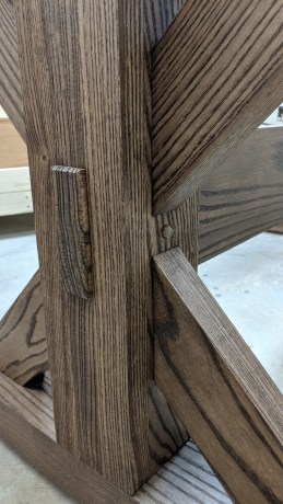 trestle table mortise and tenon