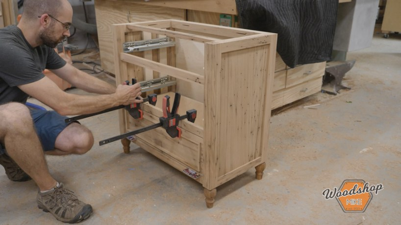 how to attach drawer fronts to a drawer box