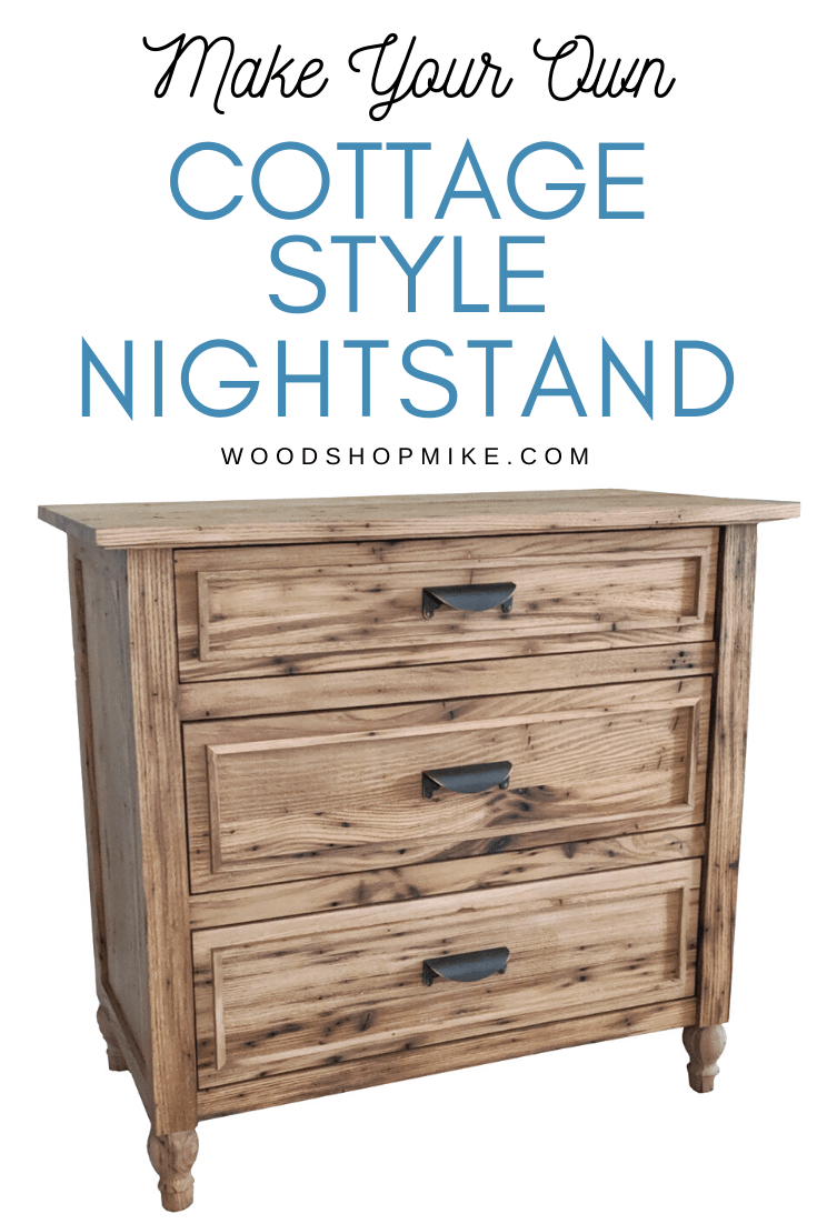 make your own cottage style nightstand