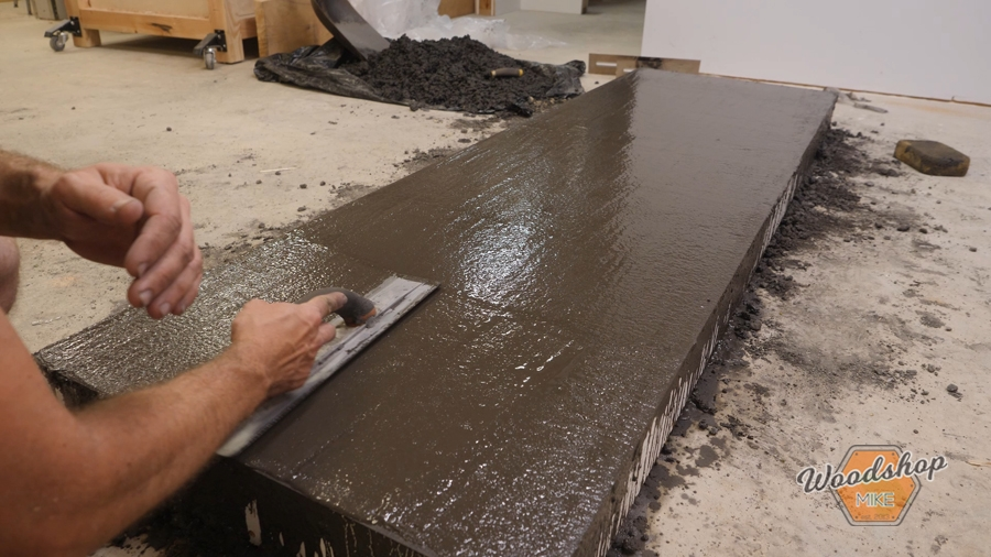 how to use a magnesium float, concrete countertop