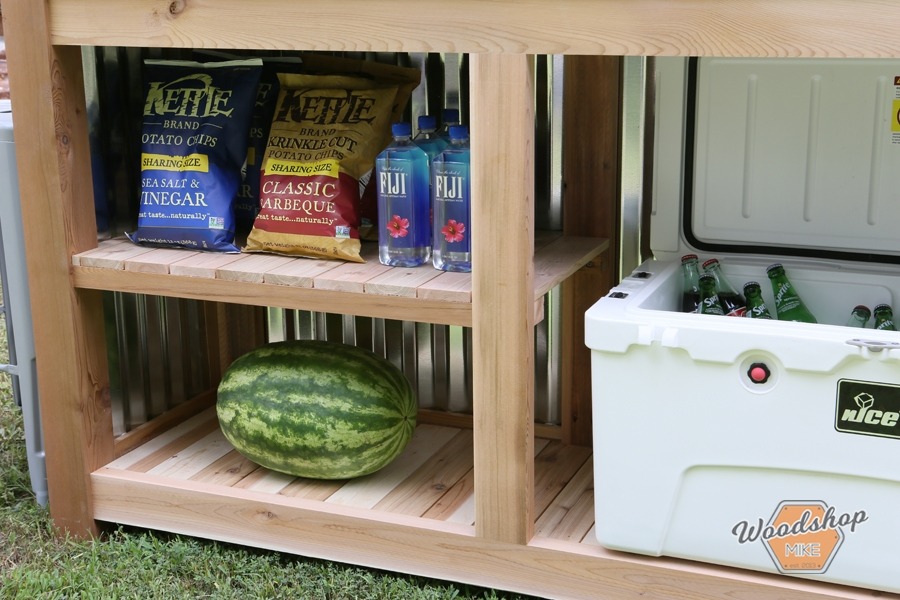 outdoor bar food and drink storage