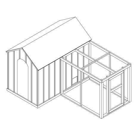Chicken + Storage Coop