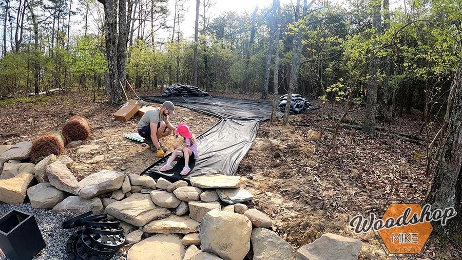 Installing landscape edging outdoor living