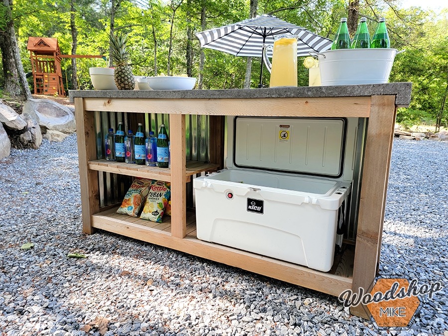 Outdoor bar with tons of storage