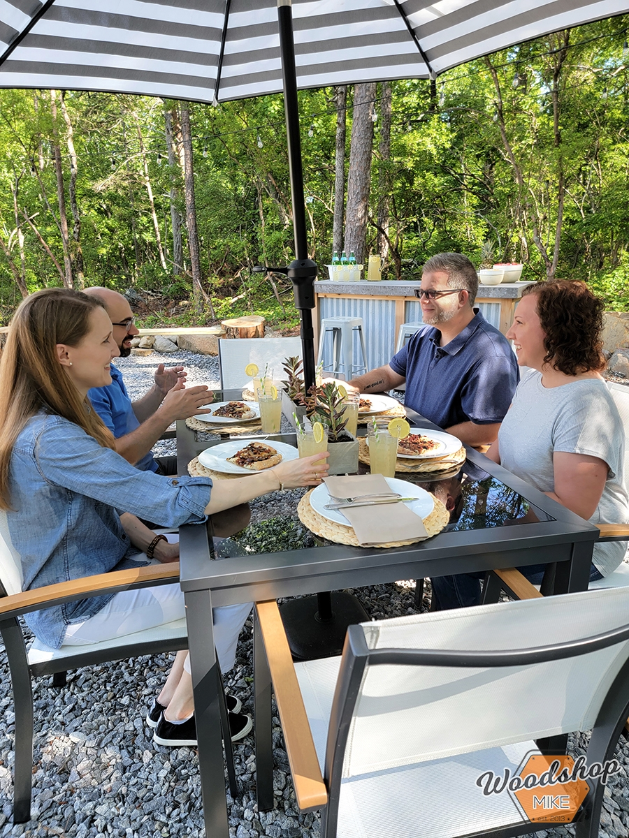 Outdoor dining with friends
