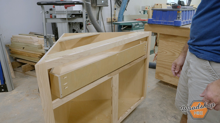installing a drawer in a corner cabinet