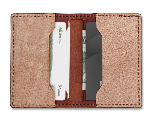 KNAFS Strop Wallet Open with Cards