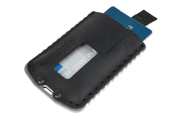 Trayvax Ascent Wallet Raw and Black Slim Minimalist Wallet