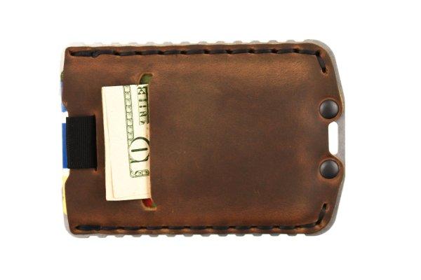 Trayvax Ascent Wallet Raw and Tobacco Brown Slim Minimalist Wallet