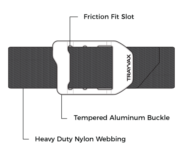 Trayvax Cinch EDC Carry Belt Features