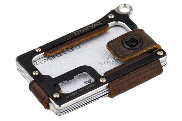 Trayvax Contour Minimalist EDC Wallet Raw and Mississippi Mud