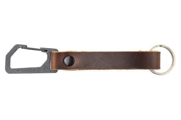 Trayvax Keyton Clip Carabiner Keychain Black and Mississippi Mud
