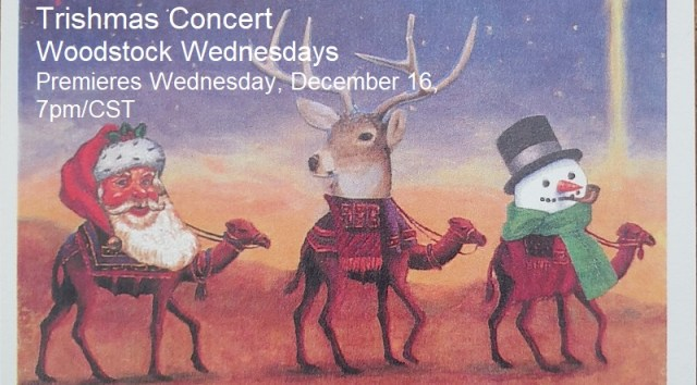 Trishmas Concert | Tricia Alexander, Alpha Stewart, Jr., and Diana Laffey | Woodstock Wednesdays | December 16, 7pm/CST